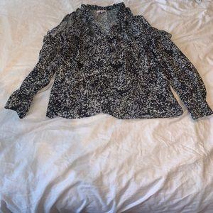 Parker Marjorie cold shoulder blouse size S
